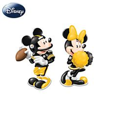 Of course Mickey and Minnie would grace my table!! Spice Up The Season Steelers Salt & Pepper Shaker Collection Pittsburgh Steelers Football