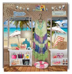 """""""Tootsie's Beach Boutique"""" by kathy-martenson-sanko ❤ liked on Polyvore featuring Caffé, Sensi Studio, Crestview Collection, Karl Lagerfeld, Style & Co., Rip Curl, Stela 9, Fox, French Connection and Aquazzura"""
