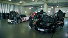 Hyper cars in shop
