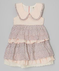Another great find on #zulily! Pink Floral Tiered Dress - Toddler & Girls by Little Anmy #zulilyfinds