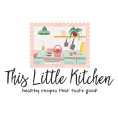 Premade Logo & Blog Header - Kitchen Cooking Premade Logo Design - Customized with Your Business Name!