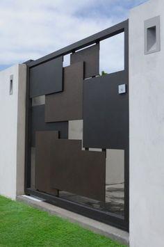 Metal Gatezzz, Modern Metal Gate, Modern Gates And Fences, Metal Entry, Gate Metal, Corrugated Metal, Metal Gate Design, Main Gate Design, Modern Gate ...