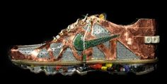 Nike Air Max sneakers made entirely from old computer parts
