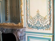 Early rococo period wall panel and mirror, Versailles, France.