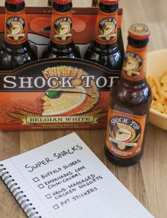 Looking for snack ideas for the Big Game? Look no further. Try these tasty treats alongside a refreshing Shock Top as you watch the Game with your friends. Just remember to be gentle with #3.