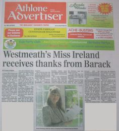 "FROM THE ARCHIVES: Regional media coverage in Westmeath's Athlone Advertiser on 23 March 2012 when Nuala Holloway received a letter of thanks from US President Barack Obama for her Oil on Canvas painting ""Famine Ship - Jeanie Johnston"". The painting was accepted by the US Embassy in Dublin as a gift for the US President on his first official state visit to Ireland in 2011 #BarackObama #IrishArt #JeanieJohnston #FamineShip"