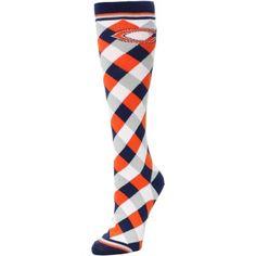 Chicago Bears Women's 538 Diamond Stripe Socks – Navy Blue