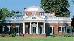 Monticello. Thomas Jefferson's plantation in Virginia.