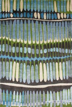 fire island blue/green rug