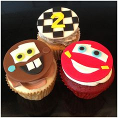 Cars cupcakes by www.amberslittlecupcakery.com