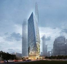 yongsan international business district by daniel libeskind seoul, korea