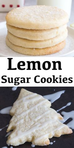 It's not the holidays without Sugar Cookies and these Lemon Cut-Out Cookies are perfect for your holiday dessert tray. The perfect cookies for lemon lovers. Lemon Shortbread Cookies, Lemon Sugar Cookies, Sugar Cookies Recipe, Yummy Cookies, Cut Out Sugar Cookies, Sugar Cookie Cutout Recipe, Cut Out Cookie Recipe, Italian Christmas Cookie Recipes, Christmas Sugar Cookies