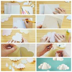 Paper Clouds for whimsical wedding