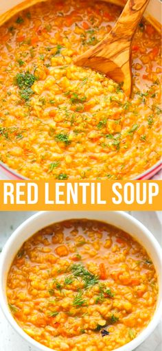 mediterranean flavors lentil recipe loaded quick soup easy make with red and to Red Lentil Soup Red Lentil Soup Recipe quick and easy to make loaded with Mediterranean flavorYou can find Lentil soup recipes and more on our website Lentil Soup Recipes, Red Lentil Soup, Easy Red Lentil Recipes, Recipes For Lentils, Healthy Lentil Soup, Lentil Vegetable Soup, Vegetarian Soup, Vegetarian Recipes, Healthy Recipes