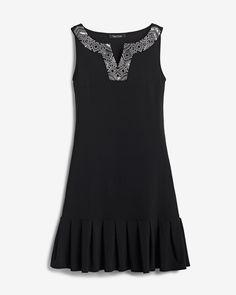 Women s Embellished Pleat-Hem Dress by White House Black Market c9664ea8c131