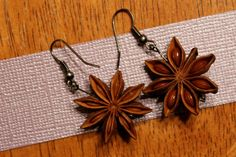 Stunning Star Anise Earrings / Herbs / Natural Jewelry via Etsy