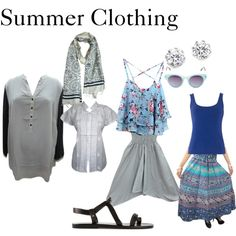 Summer Clothing by mogulinteriordesigns on Polyvore featuring Ancient Greek Sandals, Kenneth Jay Lane and Steve Madden