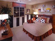 125 großartige Ideen zur Kinderzimmergestaltung - fußball inspiriertes jungenzimmer bälle bett