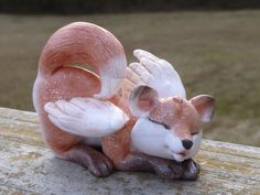 Napping winged fox by MysticReflections.deviantart.com on @DeviantArt