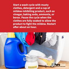 Remove that musty smell from clothes that have been in storage. Use these #CleaningTips to get fabrics smelling fresh again.