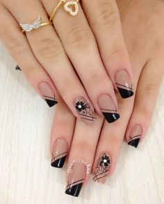 44 Stylish Manicure Ideas for 2019 Manicure: How to Do It Yourself at Home! Part 5 44 Stylish Manicure Ideas for 2019 Manicure: How to Do It Yourself at Home! Part manicure ideas; manicure ideas for short nails; Cute Acrylic Nails, Cute Nails, Pretty Nails, Gel Nails, Nail Polishes, Winter Nail Art, Winter Nails, Summer Nails, French Nails
