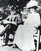 A young Winston Churchill and fiancée Clementine Hozier shortly before their marriage in 1908