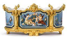 A Russian Porcelain Jardinière with Gilt Bronze Mounts, Imperial Porcelain Manufactory, St. Petersburg, 1872