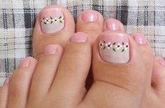 DECORAÇÃO LINDA PARA UNHAS DOS PÉS Sexy Nail Art, Pink Nail Art, Sexy Nails, Pedicure Nail Art, Toe Nail Art, Manicure And Pedicure, Pedicures, Cute Toenail Designs, Toe Nail Designs