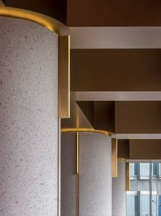 of Wann lounge / Various Associates - 5 Wann lounge,The detail of elegant columns. Image © Chao ZhangWann lounge,The detail of elegant columns. Interior Columns, Lobby Interior, Interior Architecture, Dark Interiors, Hotel Interiors, Office Interiors, Interior Design Tips, Interior Inspiration, Interior Paint