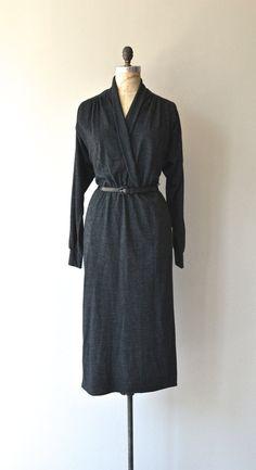 Breckwynn dress wool knit dress charcoal sweater by DearGolden