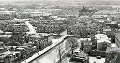 vanaf de ptt mast oostergrachtswal--oosterkade gedempte keizersgracht blokhuispoort jaren 60/70