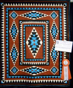 Southwestern Quilt Designs and Patterns | True southwest color and pattern! I love the turquoise in this quilt ...