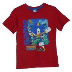 Tee-shirt Sonic Colours – manches courtes – rouge