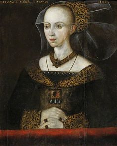 Elizabeth Woodville (c.1437–1492), 2nd Foundress of Queens' College, Wife of Edward IV (King of England, House of York, Mother of the Princes in the Tower).