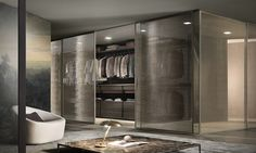 Rimadesio are unrivalled in the the design and manufacture of sliding doors, wardrobes, shelving units and contemporary furniture. For over half a century the Italian company has become a global brand of the highest standing. Sliding Wardrobe, Walk In Wardrobe, Wardrobe Design, Walking Closet, Sliding Door Systems, Sliding Doors, Modern Interior, Interior Architecture, Interior Design