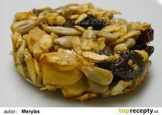 Slunečnicovo - ovesné sušenky recept - TopRecepty.cz Snack Recipes, Snacks, Apple Pie, Garlic, Chips, Menu, Vegetables, Desserts, Fitness