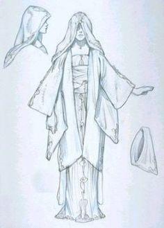 Star Wars Queen Amidala's Handmaidens Yellow Throne Room Dress - Original Concept Art