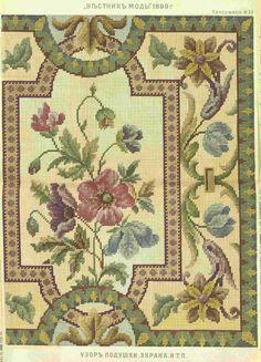 "Gallery.ru / Φωτογραφίες # 142 - Σχέδιο του περιοδικού «Δελτίο της μόδας"" - natashakon Cross Stitch Borders, Cross Stitch Rose, Cross Stitch Flowers, Cross Stitching, Cross Stitch Embroidery, Hand Embroidery, Cross Stitch Patterns, Needlepoint Patterns, Embroidery Patterns"