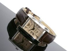 Emporio Armani Watch Women's Leather Strap AR0155 • Swiss Times • Tictail