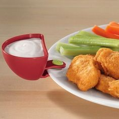 Dips Clips - this is especially handy for runny dips like salsa to keep it from spreading all over the plate