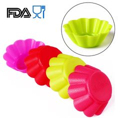 Home.lolo 6x Silicone Muffin Cake Cupcake Baking Chocolate DIY Mold Flower 6.9CM SCM02-17 >>> New and awesome product awaits you, Read it now  : Small Pastry Molds