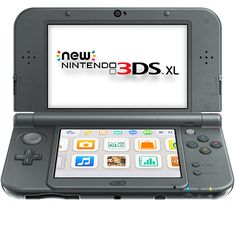 New Nintendo 3DS XL - new black - front view
