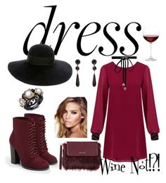 """""""Wine Not Dress"""" by aliciawiseman on Polyvore featuring JustFab, Joomi Lim, Eugenia Kim, Karen Millen, Charlotte Tilbury, Givenchy and Nordstrom"""
