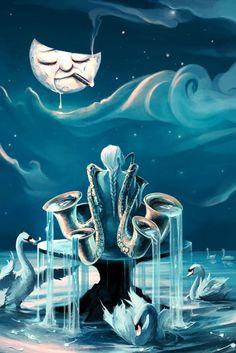 + Ilustração :     Inspiração da noite, com as belíssimas ilustrações de Cyril Rolando.
