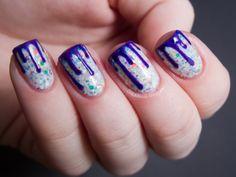 Chalkboard Nails: Cake Batter & Glaze - China Glaze Cirque du Soleil Nail Art
