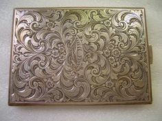 800 Silver Cigarette Case Engraved Chased by RareBeauty on Etsy, Vintage Silver, Antique Silver, Vintage Cigarette Case, Art Nouveau, Vintage Ashtray, Metal Engraving, Compact, Pewter, Silver Jewelry