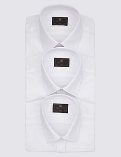 cd720ba7f9d8 3 Pack Cotton Blend Slim Fit Shirts