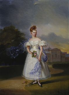Alexandre-Jean Dubois Drahonet (1791-1834) - Queen Victoria (1819-1901), when a Girl