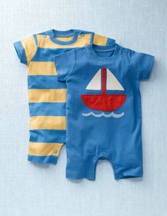 Twin Pack Summer Rompers - mini boden