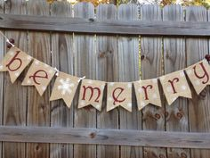 Be Merry the name says it all. This banner is sure to make you Merry hanging from your mantle or as a fun back drop for your holiday cards.